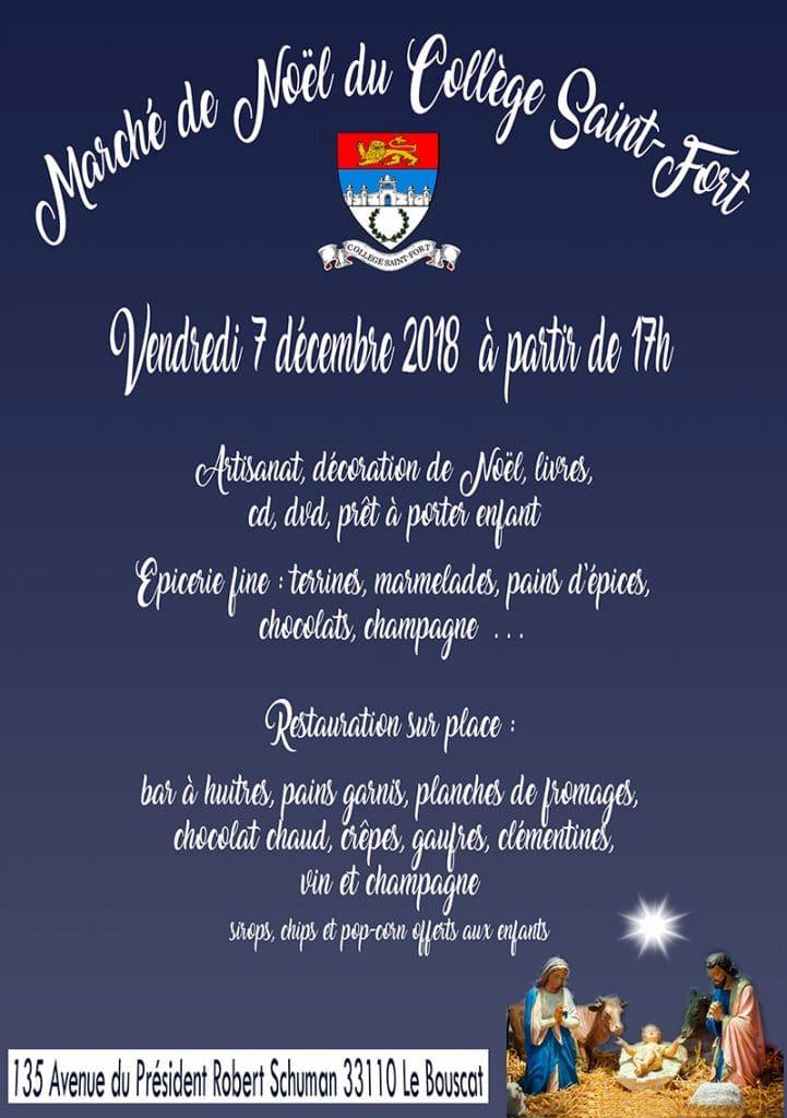 Marché de Noël du collège Saint-Fort