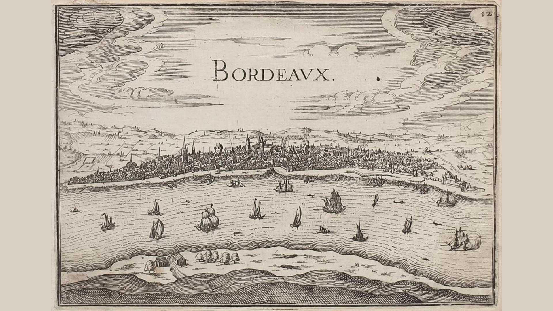 Croquis historique de Bordeaux.